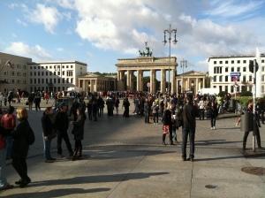 scene at the Brandenburg gate